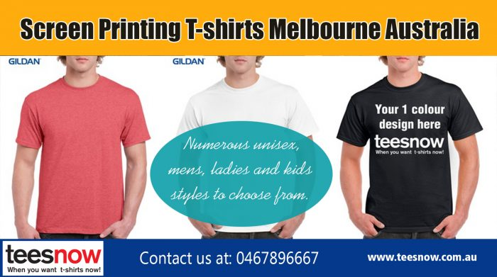 Screen Printing T-Shirts Melbourne Australia|https://www.teesnow.com.au/