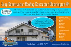 Snap Construction roofing contractor bloomington mn