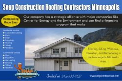 Snap Construction Roofing contractors minneapolis