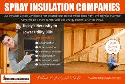 Spray Insulation Companies | affordableinsulationmn.com