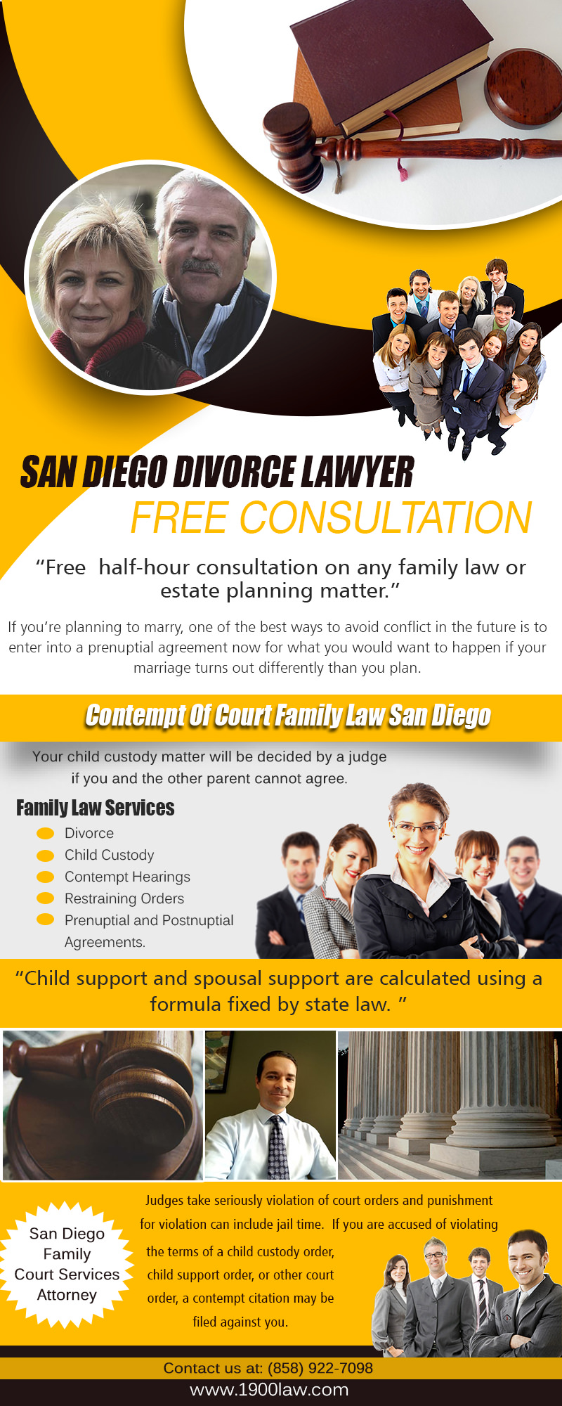 San Diego Divorce Lawyers Free Consultation -858-922-7098
