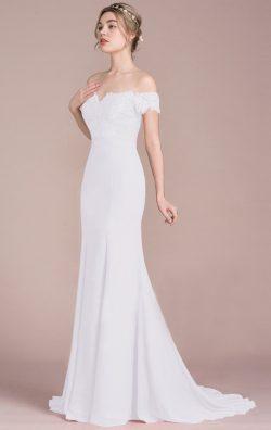 Online Long Ivory White Bridesmaid Dress